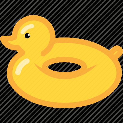 beach, duck, rubber, rubber duck, summer icon