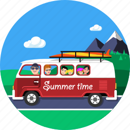 mountain, people, summer, tourism, travel, vacantion, vehicle icon