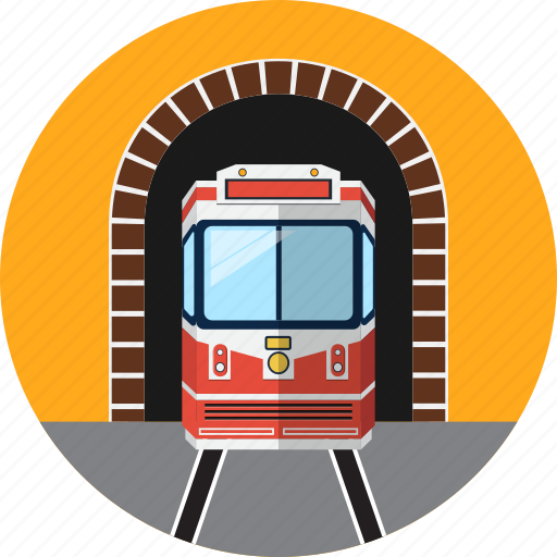 holiday, railway, traffic, train, travel, tunnel, vacantion icon