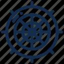 nautical, navigation, sea, ship, travel, wheel icon