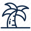 beach, coconut, palm, summer, tree, tropical icon