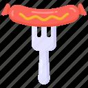 hot dog, sausage, bratwurst, grilld sausage, meat icon