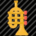 cornet, trumpet, musical instrument, musical equipment, brass