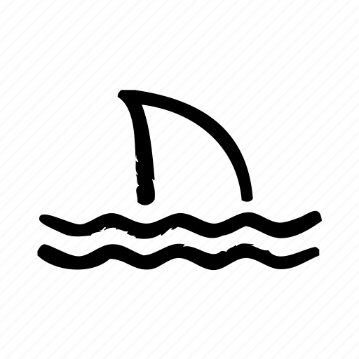 danger, ocean, shark, swimming, water icon