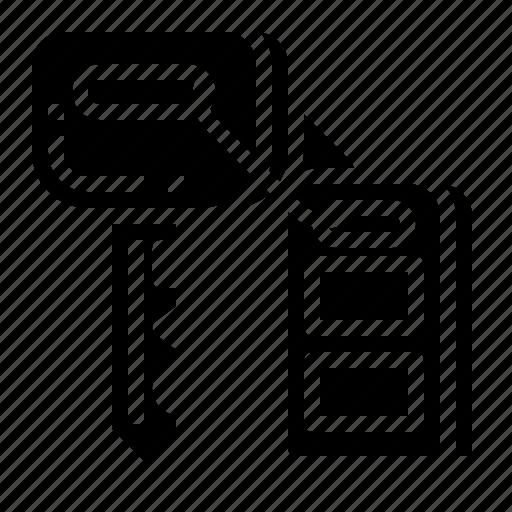 car, key, lock, remote, security icon
