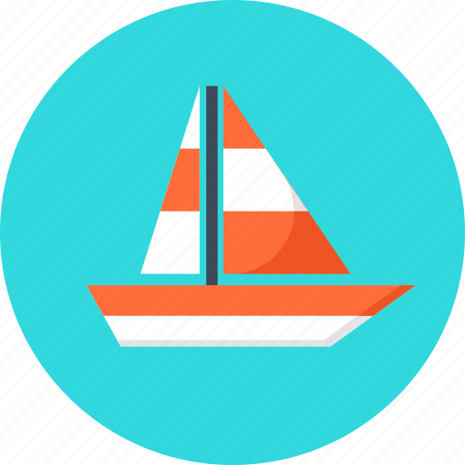 boat, sailing, ship, summer, trip, water, yacht icon