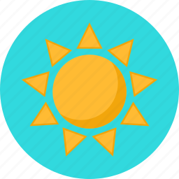 bright, shiny, summer, sun, sunny, weather icon