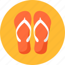 beach, flip, flops, ios, sandals, shoes, thongs icon