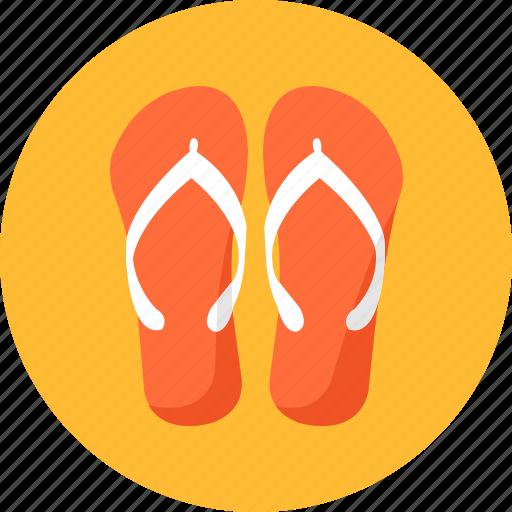beach, flip, flops, ios, sandals, shoes, thongs icon