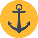 anchor, berth, marine, maritime, nautical, seo, ship icon