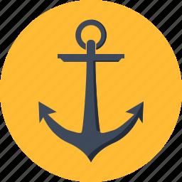 anchor, berth, marine, maritime, nautical, seo, ship icon