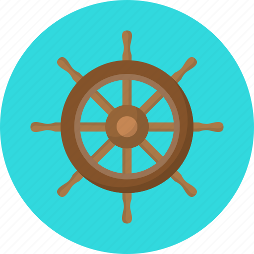 helm, pirate, pirates, sailing, vacation, wheel, wooden icon