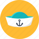 cap, peakless, peakless cap, sailor, seaman, summer, vacation icon