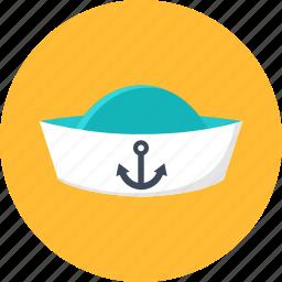 cap, peakless, peakless cap, sailor, seaman, summer, vacation icon