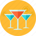 alcohol, cocktail, drink, glass, juice, summer, vacation icon