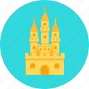 beach, castle, sand, sand castle, sandcastle, vacation icon