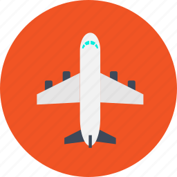 air, aircraft, airliner, airplane, flight, plane, transport icon