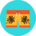 beach, clothing, knicker, palms, pocket, shorts, swimming icon