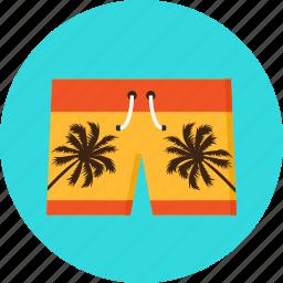 beach, clothing, knicker, palms, pocket, shorts, swimming icon