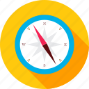 compass, direction, equipment, location, navigation, south, travel icon
