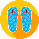 beach, flip, flip flop, flop, slippers, sneakers, summer icon