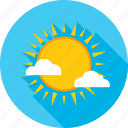 cloud, heat, summer, sun, sunshine, temperature, weather icon