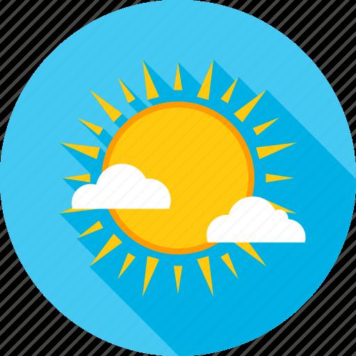cloud, heat, summer, sun, sunshine, temperature, weather icon