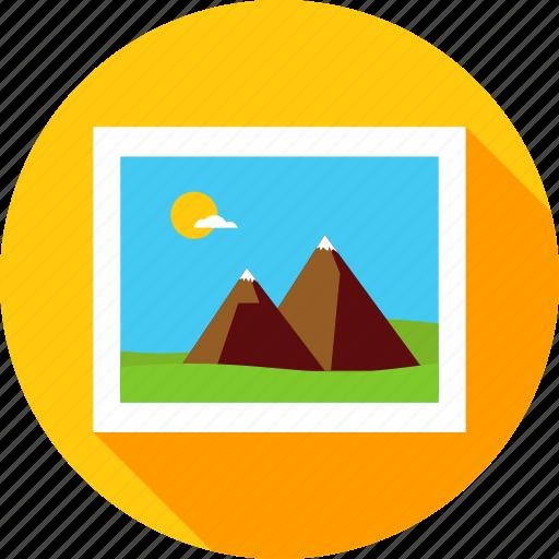 camera, landscape, mountain, nature, photo, photography, picture icon
