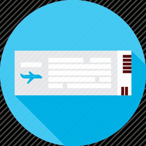 airplane, flight, fly, plain, ticket, travel, trip icon