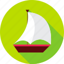 boat, marine, sail, ship, summer, transport, vacation icon
