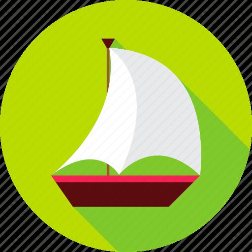 boat, marine, sail, ship, summer, transport, vacation icon