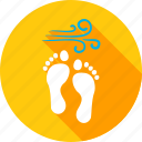 beach, foot, footprint, holiday, sand, step, summer icon