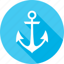 anchor, marine, ocean, sail, sea, summer, vessel icon