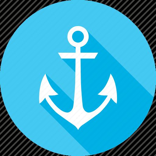 anchor, marine, ocean, sail, sea, summer, vessel icon