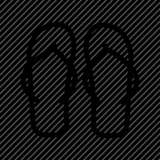beach, footwear, hotel, slipper icon