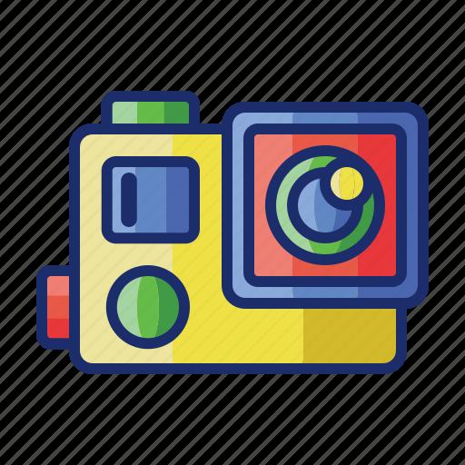 action camera, camera, photography, video icon
