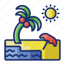 beach, summer, travel, vacation icon