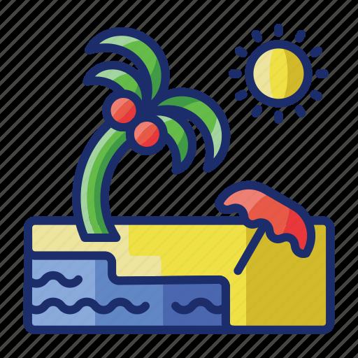 beach, summer, travel, vacation icon
