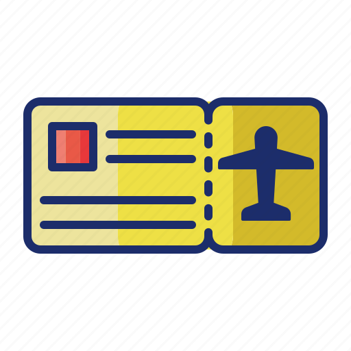 airport, boarding pass, flight, ticket icon