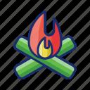 bonfire, burn, fire, fireplace