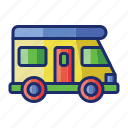 campervan, rv, trailer, vehicle icon
