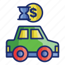 taxi, transportation, vehicle, car, rental icon
