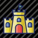 building, castle, estate, sandcastle