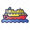 boat, cruise, sea, ship icon