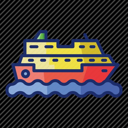 boat, cruise, sea, ship icon