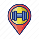 dumbbell, fitness, gym, workout icon