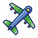 airplane, airport, flight, plane icon