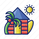 building, holiday, home, vacation icon
