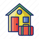 accommodation, homestay, hotel, motel icon