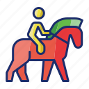 animal, horse, horseback, riding icon